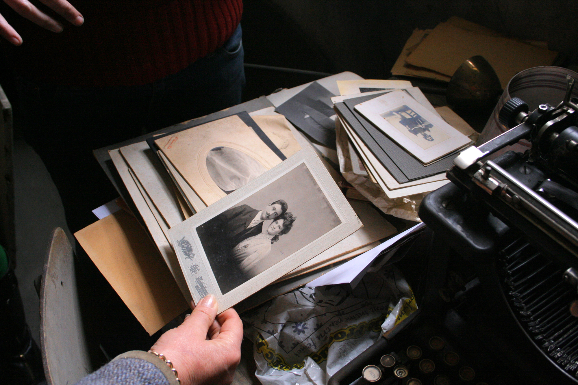 Photos collected in the archive of the Mediaș synagogue, Romania – Photo by Michael Nork