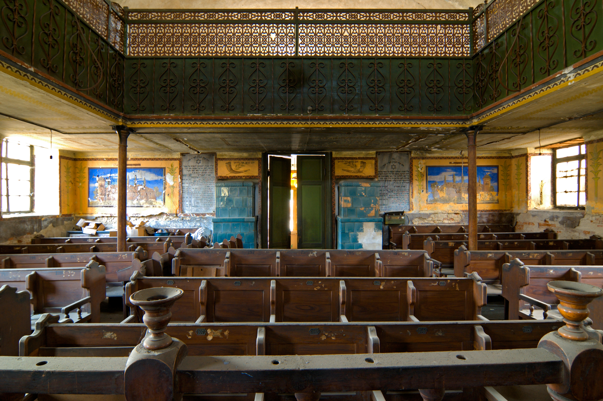 Interior of the Mediaș synagogue, Romania – Photo by Christian Binder