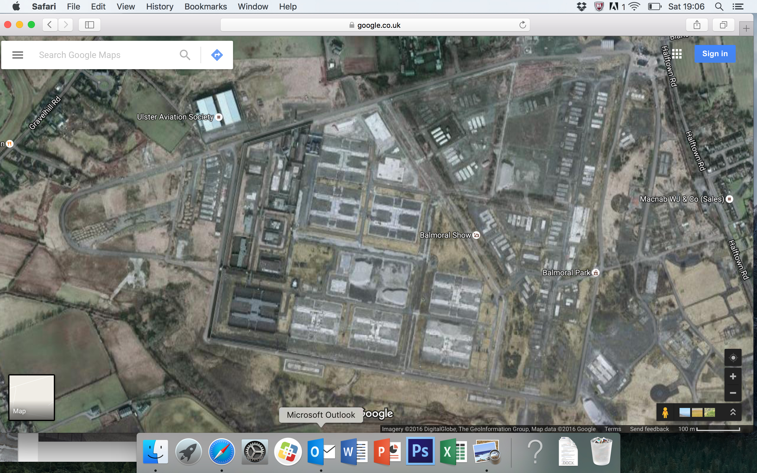 google earth aerial long kesh maze